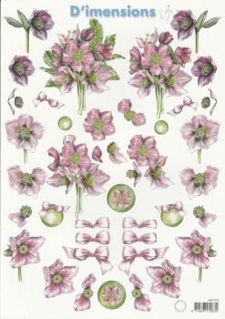 Assorted Flowers 2 Decoupage Sheet