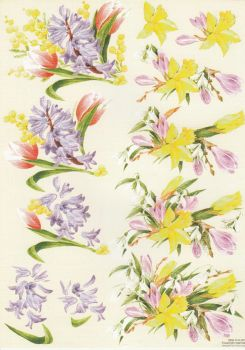 Spring Flowers Decoupage Sheet