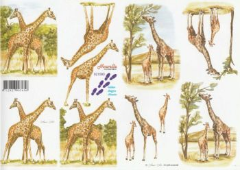 Giraffe Decoupage Sheet