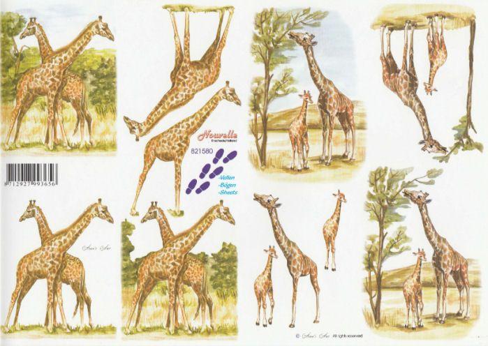 Giraffe Decoupage Sheet