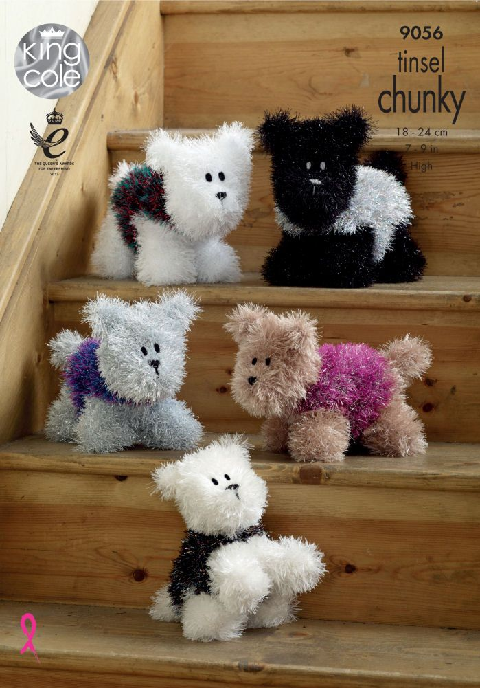 Tinsel Chunky Westie Style Knitting Pattern