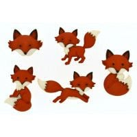 Out Foxed Novelty Buttons