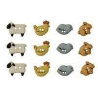 Country Critters Novelty Buttons