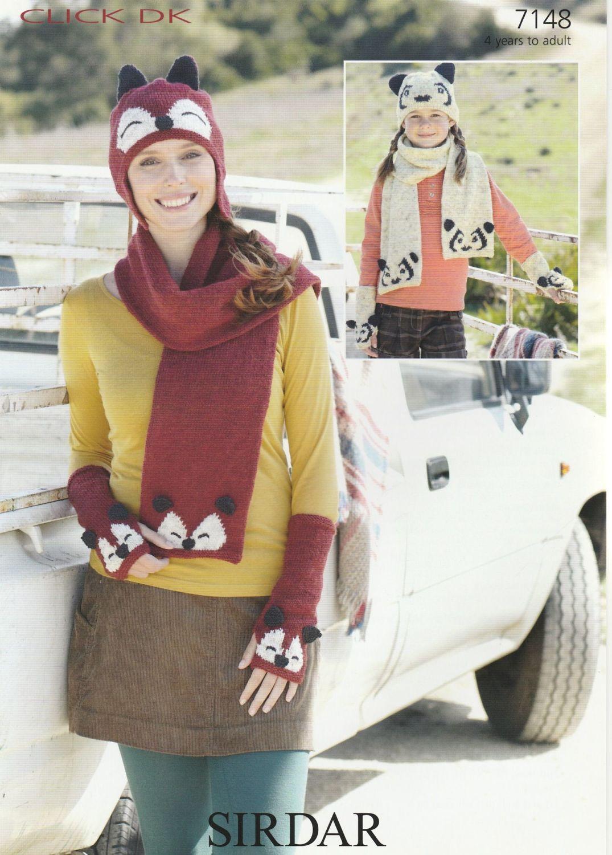 Fox & Panda Hats, Scarves & Gloves