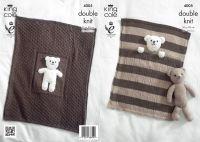 Baby Blankets & Teddy Bear Toy Knitting Pattern