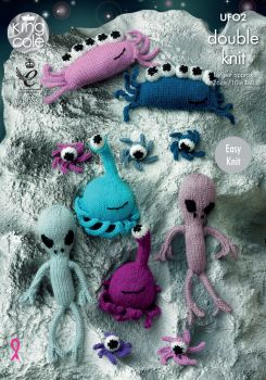 Aliens Knitting Pattern