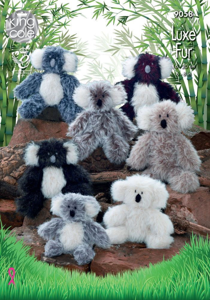 Brand New! Luxe Fur Koala Knitting Pattern