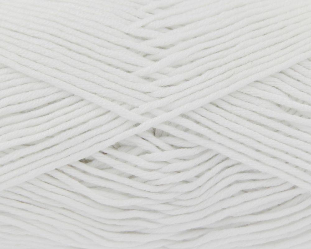White Bamboo Cotton Double Knitting