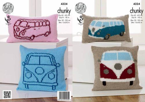 Campervan Cushions Knitting Pattern