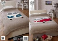 Campervan Bed Throws Knitting Pattern