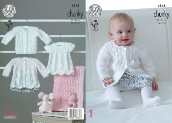 Matinee Coat, Angel Top, Cardigan & Blanket Knitting Pattern