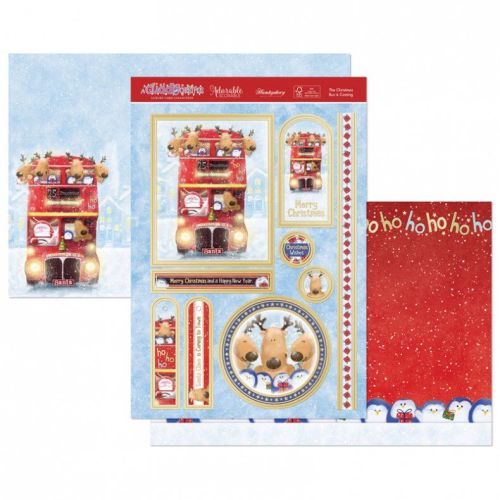The Christmas Bus is Coming Topper Kit