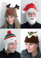 Christmas Adult Novelty Hats Knitting Pattern