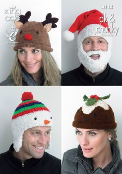 Christmas Adult Novelty Hats Knitting Pattern