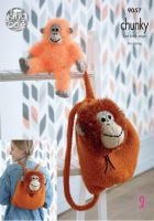 Tinsel Orangutan Backpack & Toy Knitting Pattern