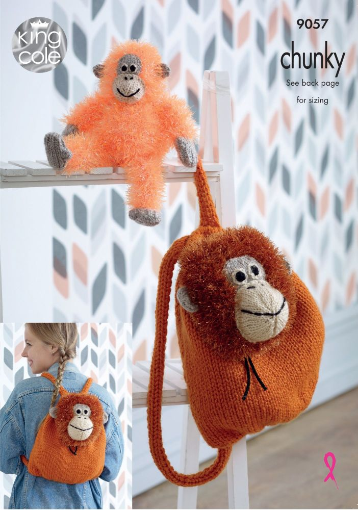 Tinsel Orangutan Backpack & Toy