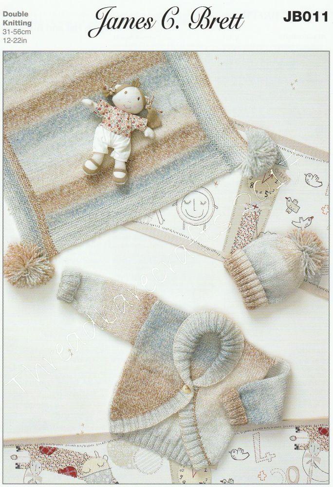Cardigan, Hat & Blanket Knitting Pattern