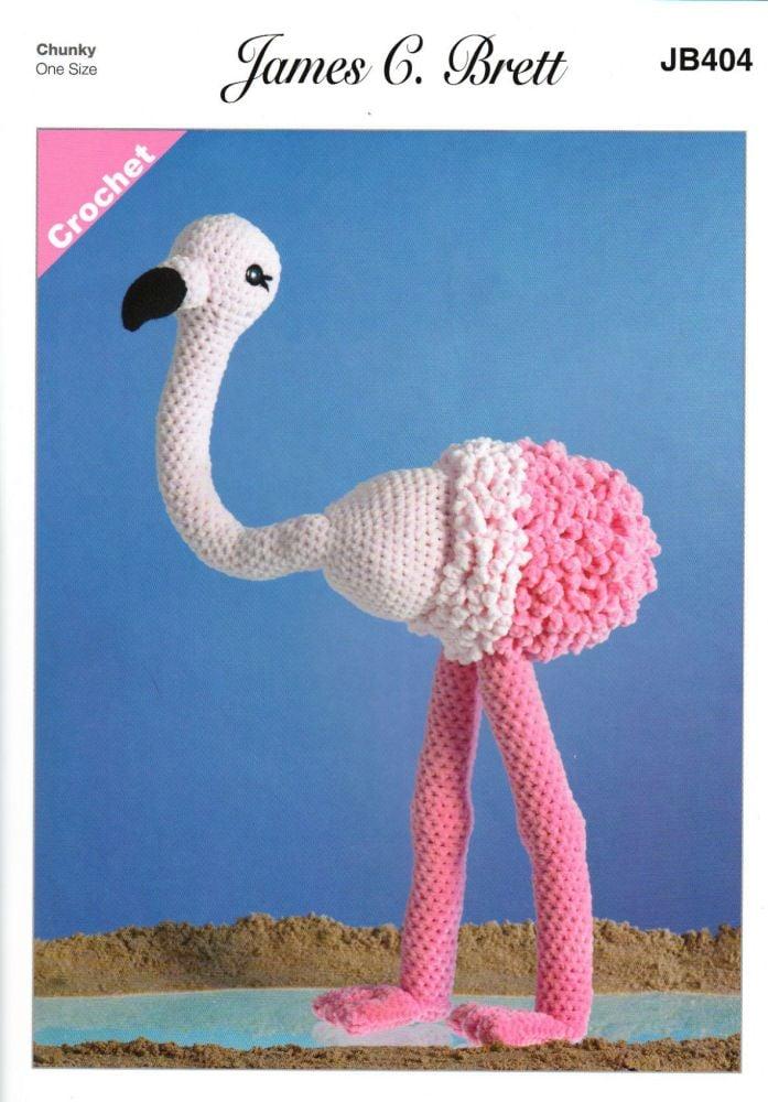 Flo the Flamingo Crochet Pattern