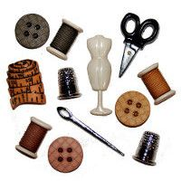 Sewing Room Novelty Buttons