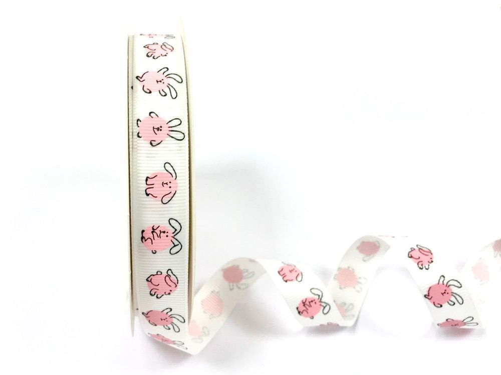 Pink Rabbits Ribbon