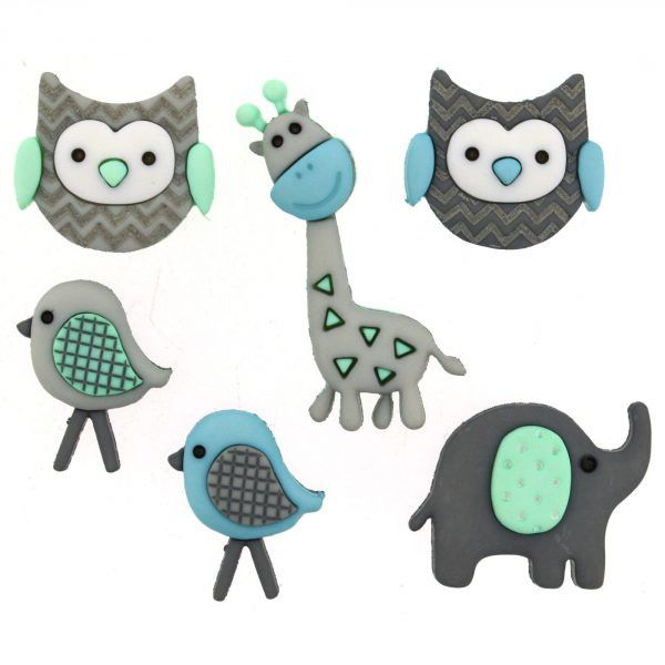 Jungle Baby Novelty Buttons