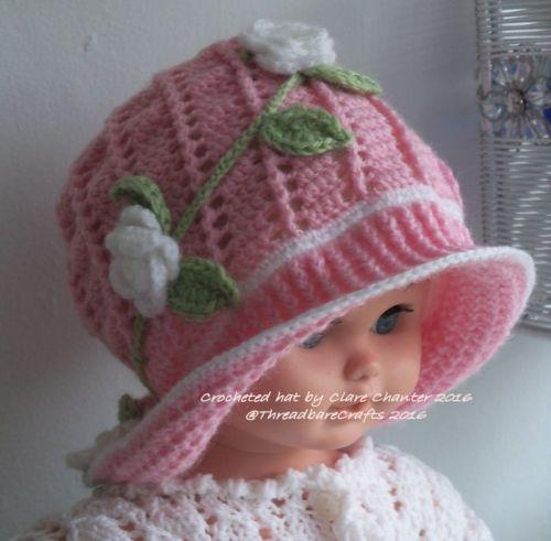 Crocheted Panama Sunhat - Blossom
