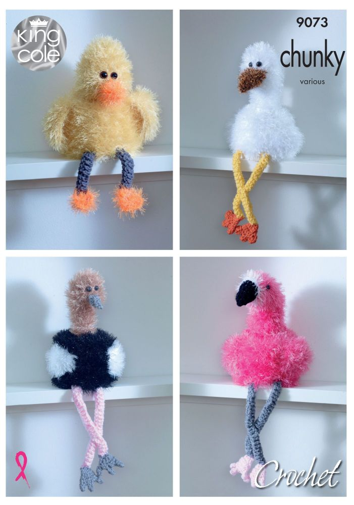 Tinsel Bird Toilet Roll Holders Crochet Pattern
