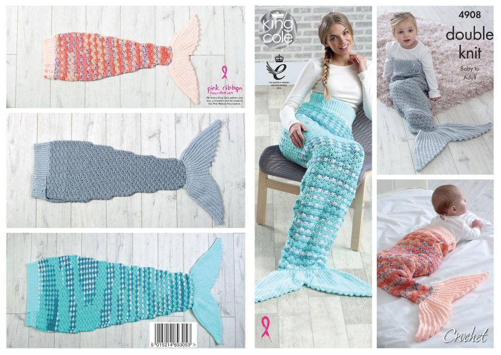 Mermaid Blankets Crochet Pattern
