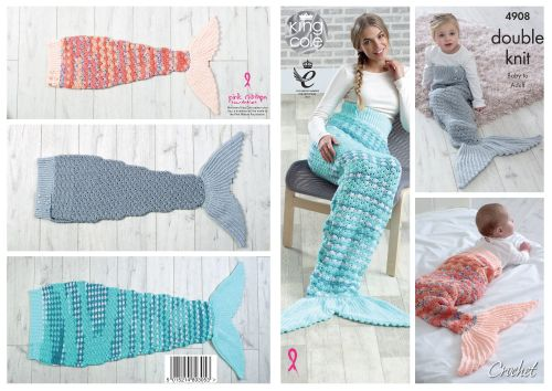 Mermaid Blankets Crochet Pattern