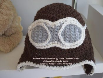 Crocheted Aviators Beenie