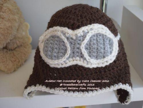 Crocheted Aviators Beenie