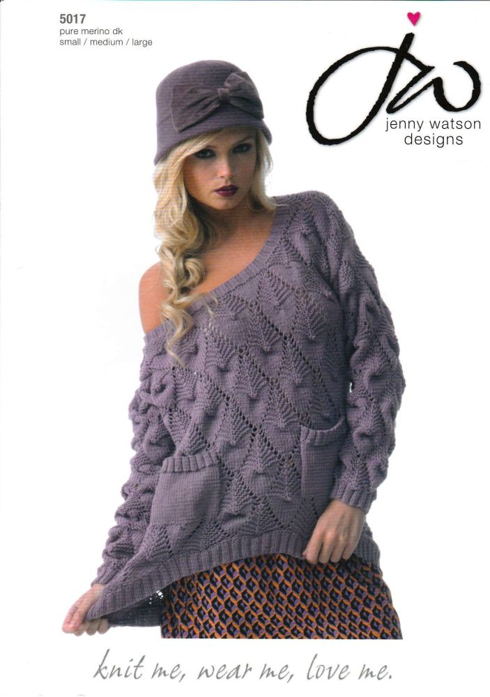 Diamond Curved Sweater Knitting Pattern