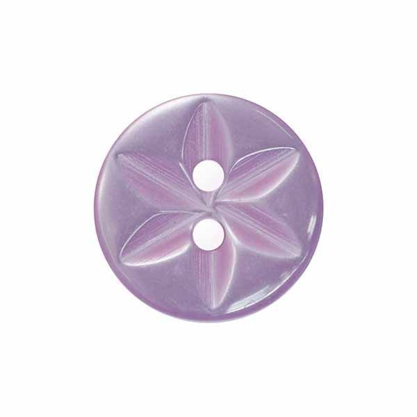 14mm Lilac Star Buttons