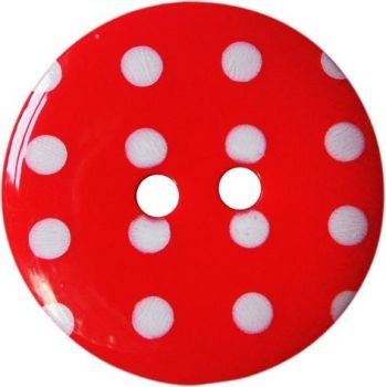 13mm Red Polka Dot Buttons