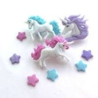 Magical Unicorns Novelty Buttons