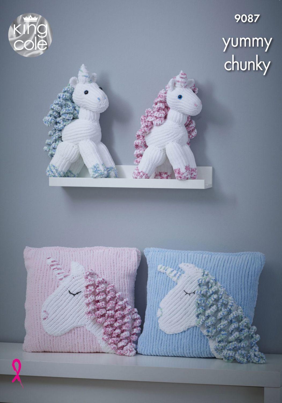 Unicorn & Cushion Knitting Pattern