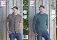 Waistcoat & Round Neck Sweater Knitting Pattern