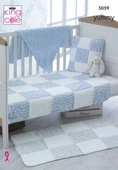 Blankets, Rug, Cushion & Shawl Knitting Pattern