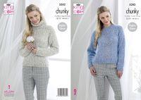 Ladies Chunky Sweaters Knitting Pattern