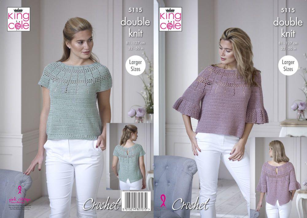 Bell Sleeve & Short Sleeved Tops Crochet Pattern