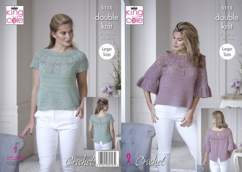 Bell Sleeve & Short Sleeved Tops Crochet Pattern