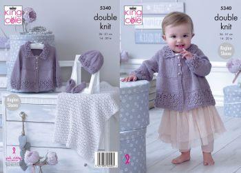 Matinee Jacket, Hat, Shoes & Blanket Knitting Pattern