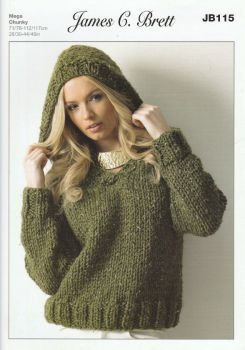 Hooded Sweater Knitting Pattern
