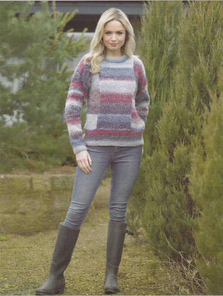 Panel Sweater Knitting Pattern