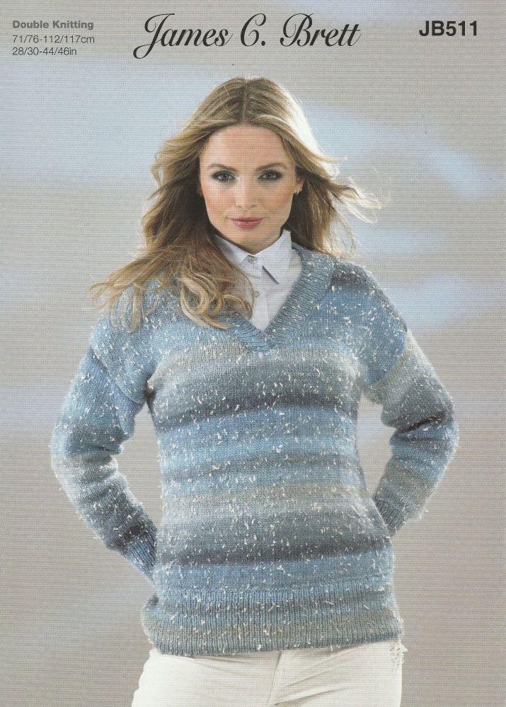 V Neck Jumper Knitting Pattern