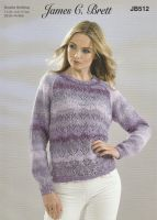 Lace Panel Jumper Knitting Pattern