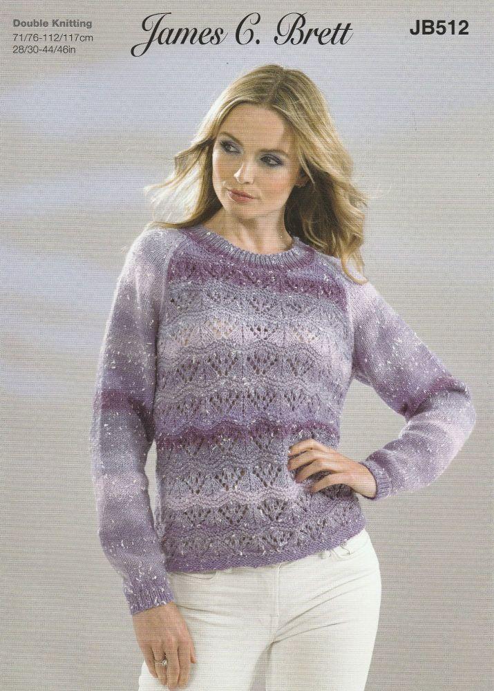 Lace Panel Jumper Knitting Pattern