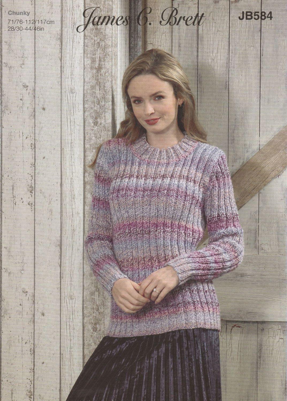 Ribbed Sweater Knitting Pattern