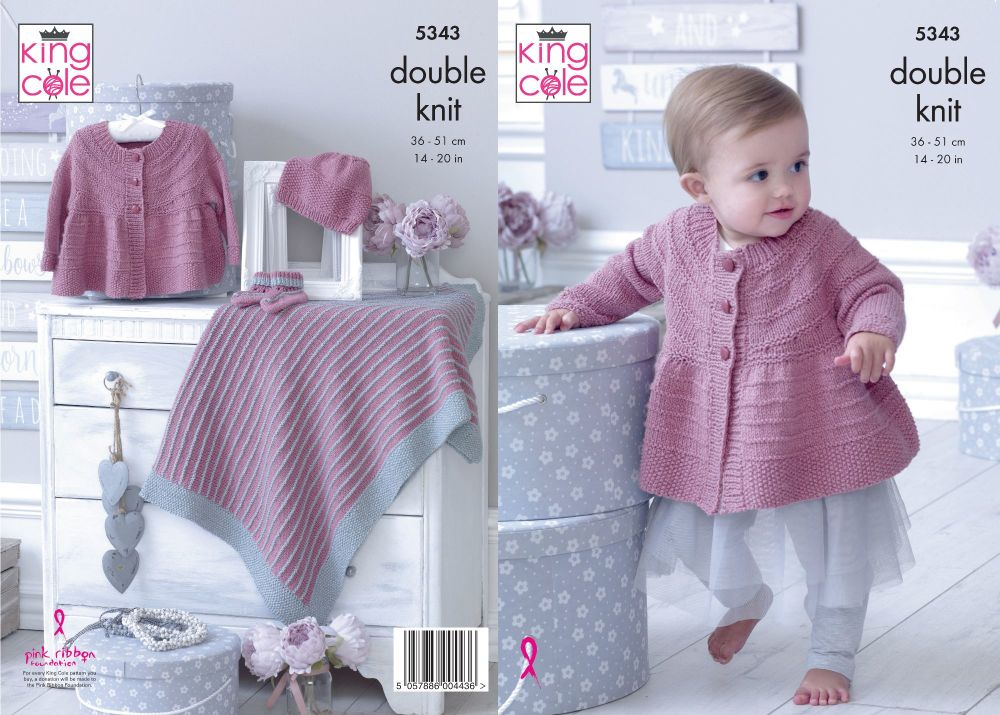 Matinee Jacket, Hat, Bootees & Blanket Knitting Pattern