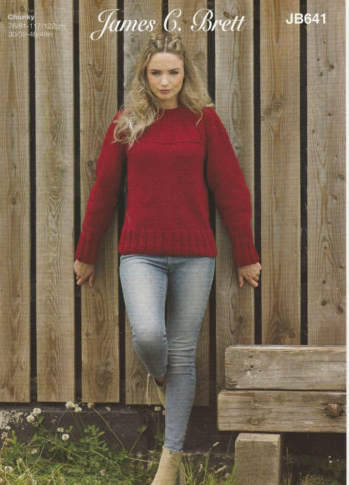 Rib Panel Sweater Knitting Pattern